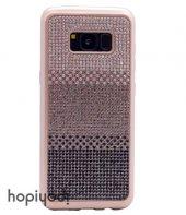 Samsung Galaxy S8 Plus Kılıf Taşlı Silikon Kapak + Ekran Koruyucu Temperli Cam-3