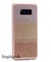 Samsung Galaxy S8 Plus Kılıf Taşlı Silikon Kapak + Ekran Koruyucu Temperli Cam-4