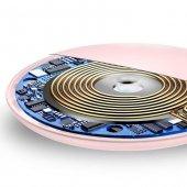 Baseus Donut Qi Pembe Wireless Hızlı Şarj Cihazı-4
