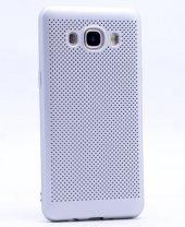 Samsung Galaxy J5 2016 Kılıf Mesh Delikli Silikon Kapak + Kırılmaz Cam Ekran Koruyucu-8
