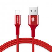 Baseus iPhone iPad iPod Hızlı Şarj Kablosu Kırmızı 1Mt