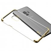 Baseus Glitter Samsung Galaxy S9 Gold Kılıf Arka Koruyucu Kapak-3