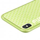 Baseus Parkour iPhone X Yeşil Kılıf Arka Koruyucu Kapak-3