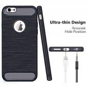 iPhone 6s Plus Silikon Kılıf Rush Arka Kapak + Ekran Koruyucu Temperli Cam-6