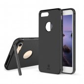 Baseus Hermit Bracket Siyah iPhone 7 - 8 Kılıf Arka Koruyucu Kapak