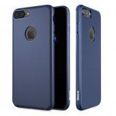 Baseus Mystery Mıknatıslı Lacivert iPhone 7 Plus - iPhone 8 Plus Kılıf Arka Koruyucu Kapak