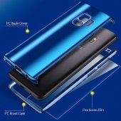 Samsung Galaxy S9 Aynalı Kılıf 360 Ön Arka Full Kapak-4