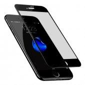 Apple iPhone 8 Plus Mat Ekran Koruyucu Siyah Cam