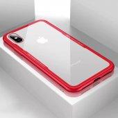 iPhone X Kılıf Kablosuz Şarj Uyumlu Xraft Arka Kapak + Ekran Koruyucu Temperli Cam-4