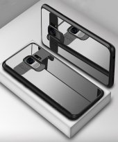 Samsung Galaxy S9 Kılıf Kapak Butto Kap Yan Silikon Arkası Şeffaf-2