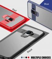 Samsung Galaxy S9 Kılıf Kapak Butto Kap Yan Silikon Arkası Şeffaf-3