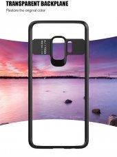 Samsung Galaxy S9 Kılıf Kapak Butto Kap Yan Silikon Arkası Şeffaf-4