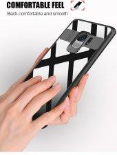 Samsung Galaxy S9 Kılıf Kapak Butto Kap Yan Silikon Arkası Şeffaf-5
