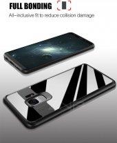 Samsung Galaxy S9 Kılıf Kapak Butto Kap Yan Silikon Arkası Şeffaf-6