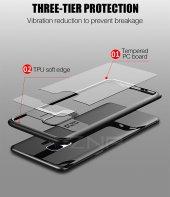 Samsung Galaxy S9 Kılıf Kapak Butto Kap Yan Silikon Arkası Şeffaf-7