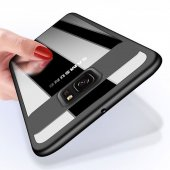 Samsung Galaxy S9 Kılıf Kapak Butto Kap Yan Silikon Arkası Şeffaf-8