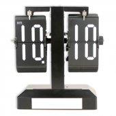 Delta Siyah Yapraklı Çevirmeli Flip Metal Işıklı Masa Saati