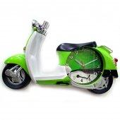 Vespa Dekoratif Klasik Yeşil Scooter Model Motosiklet Duvar Saati