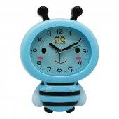 Renkli Arı Maya Çocuk Odası Alarmlı Çalar Masa Saati-2
