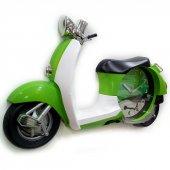 Vespa Dekoratif Klasik Yeşil Scooter Model Motosiklet Duvar Saati-2