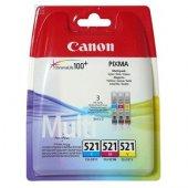 Canon CLI-521 C/M/Y 3'lü Set Orijinal Kartuş