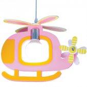Pembe Renk Helikopter Model Çocuk Odası Avizesi