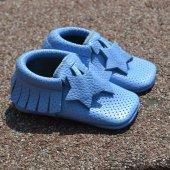Yıldız Makosen Bebek Ayakkabı Mavi Cv 215