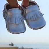 Klasik Makosen Bebek Ayakkabı Gümüş Cv 152