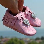 Kalpli Makosen Bebek Ayakkabı Pudra Gümüş Cv 142