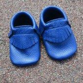 Klasik Makosen Bebek Ayakkabı Saks Cv 96