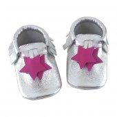 Yıldız Makosen Bebek Ayakkabı Gümüş Cv 207