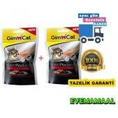 Gimcat Nutri Pockets Biftekli Kedi Ödülü 60 Gr X 2 Adet
