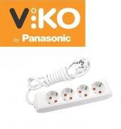 Viko Panasonic 4 Lü 2 3 5 M Kablolu Uzatma Grup Pr...