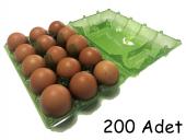 15 Lİ Plastik Yeşil Yumurta Viyolu (200 Adet)