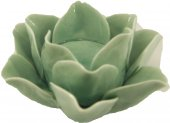 Pario Yeşil Çiçek Hediyelik Konsol Üstü Mumluk