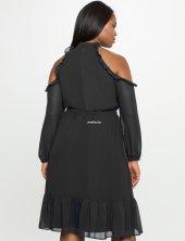 Melisita Trella Büyük Beden  Şifon Elbise-2