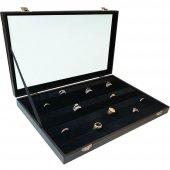Sosis Model Yüzük Ve Kol Düğmesi Kutusu (Siyah)