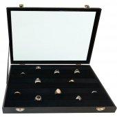 Sosis Model Yüzük Ve Kol Düğmesi Kutusu (Siyah)-2