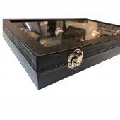 Sosis Model Yüzük Ve Kol Düğmesi Kutusu (Siyah)-3