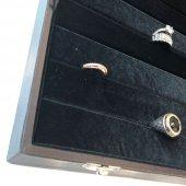 Sosis Model Yüzük Ve Kol Düğmesi Kutusu (Siyah)-4