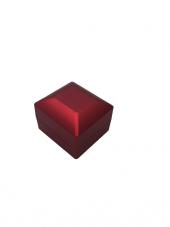 Ahşap Ledli Yüzük Kutusu Kırmızı-3