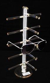 Pleksi Lazer Gözlük Standı Beyaz