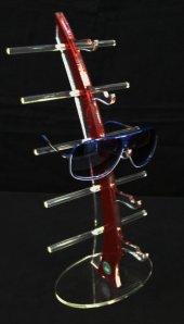 Pleksi Yelken Gözlük Standı Kahve-2