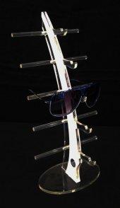 Pleksi Yelken Gözlük Standı Beyaz
