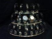 19lu Oval Set Şeffaf Saat Standı