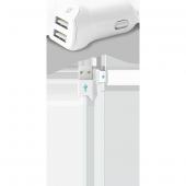 Ttec Speedcharger Duo Araç Şarj Aleti Çift Usb 3.1a Micro Usb Kab