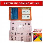 Eğitici Çocuk Oyun Kartları Aritmetik Domino Matem...
