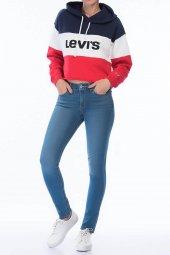 Levis 711 Skinny Bayan Kot Pantolon Taşlanmış Mavi 18881 0270