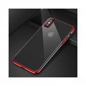 Baseus iPhone X Glitter Serisi Şeffaf Sert Arka Kapak Kırmızı + Ekran Koruyucu-5
