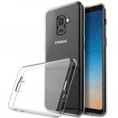 Samsung Galaxy A8 Plus (A730) Silikon Arka Kılıf 0,3mm Şeffaf